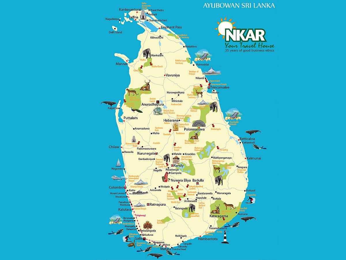 Nkar Travels Tours On Twitter Tourist Map Of Sri Lanka