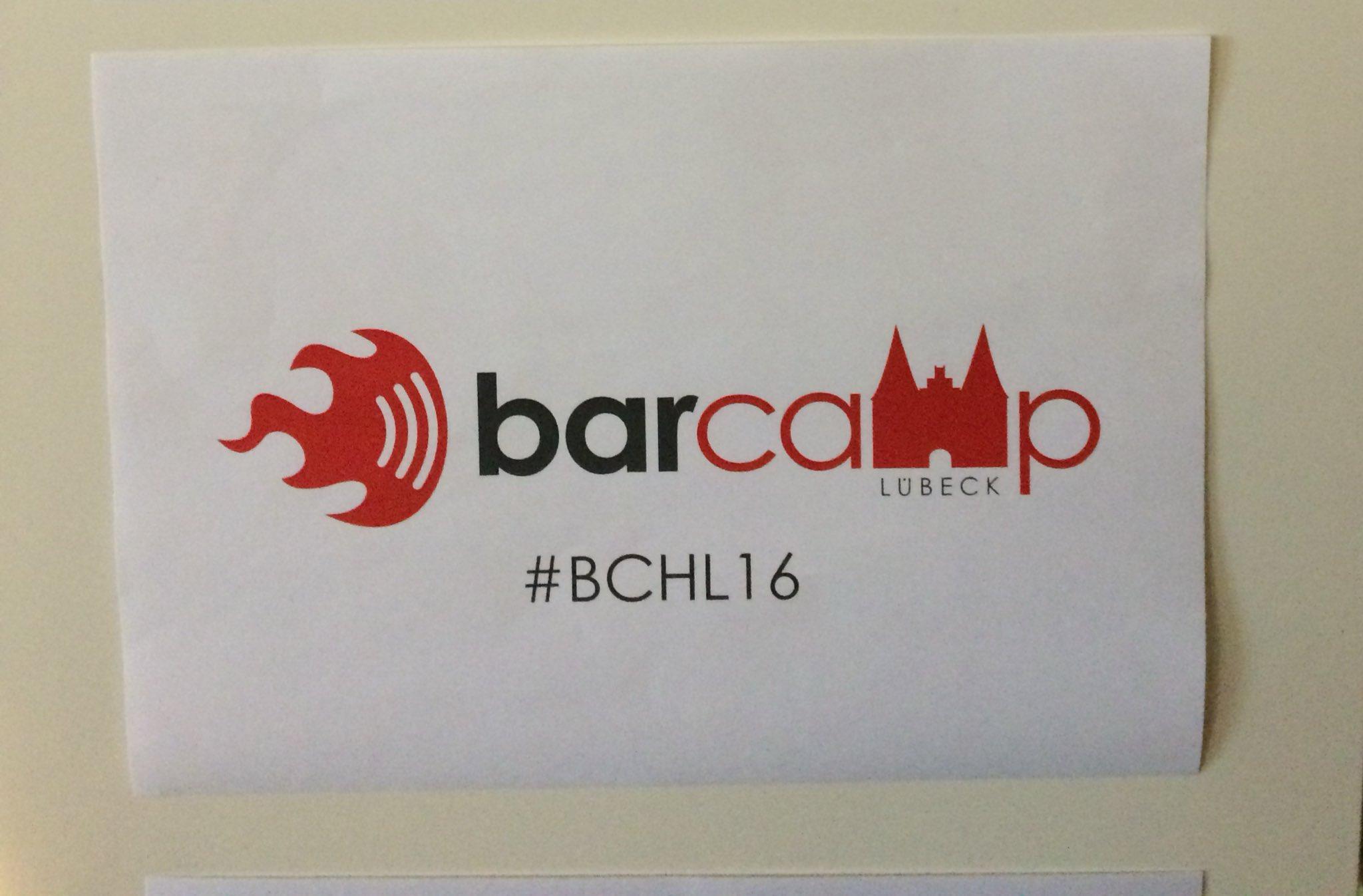 Heute live und in Farbe auf dem Barcamp Lübeck. Ich freue mich auf spannende Sessions und tolle Gespräche. #bchl16 https://t.co/ln3USGaQOH