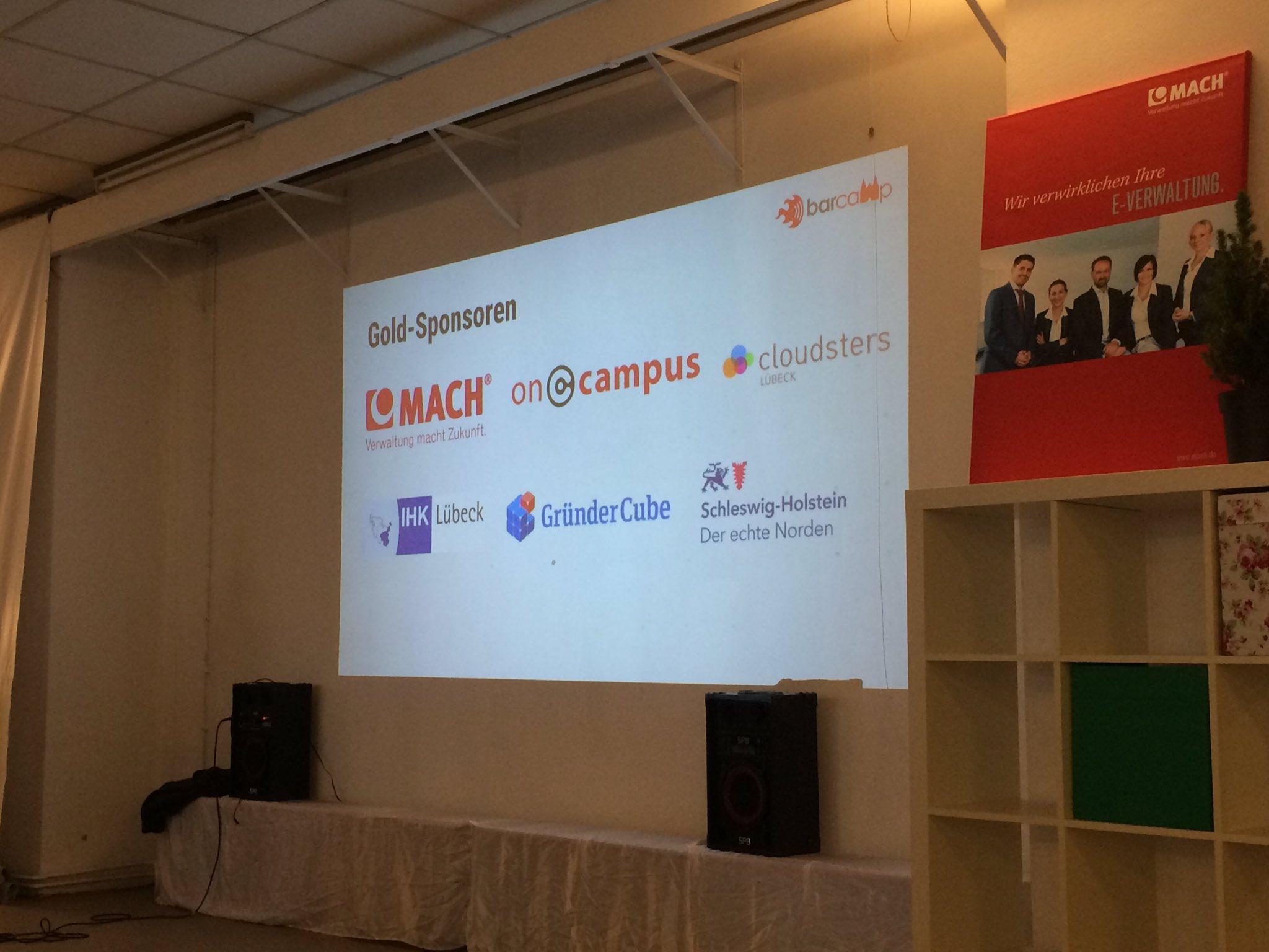 Wir sind heute als Gold-Sponsor beim ersten Lübecker Barcamp dabei und freuen uns auf tolle Sessions. Gleich geht's richtig los.#bchl16 https://t.co/lWc2Cd2iIc