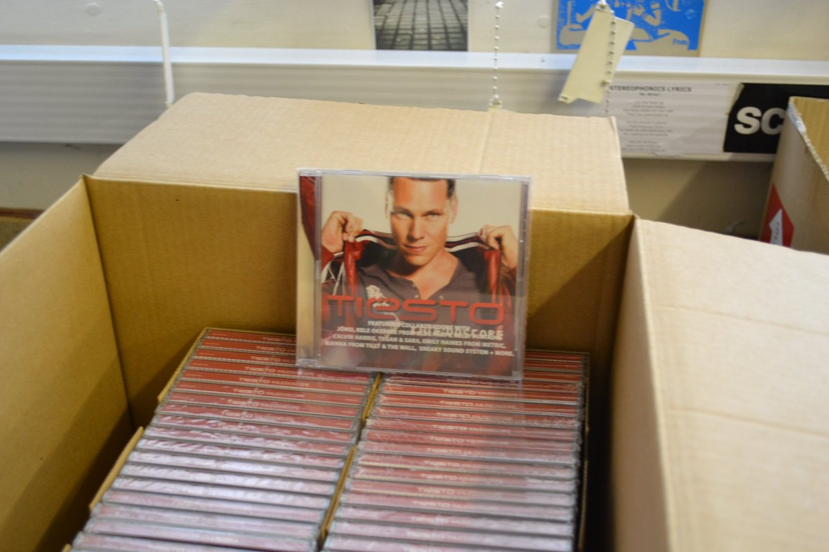 To the person who sent us a hundred Tiesto CDs for no reason: thank you. https://t.co/P793JQddlD