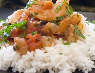 Tomato Shrimp Saute