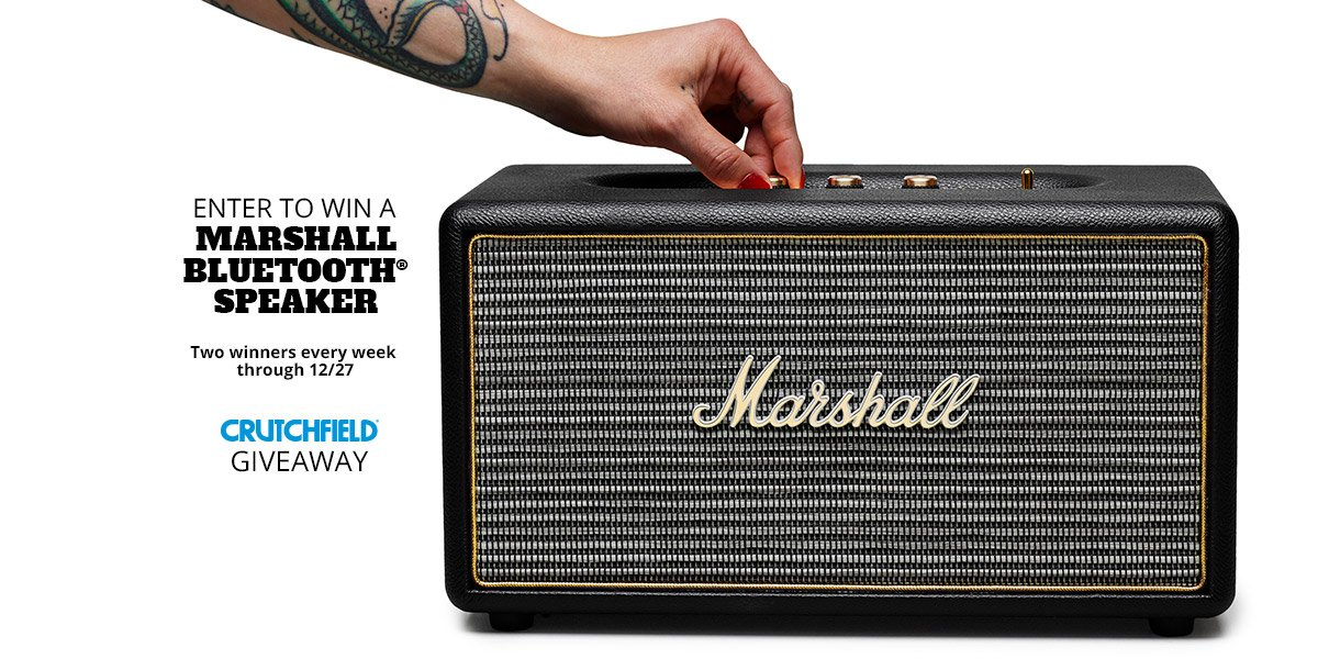 Enter to win a @MarshallHP Bluetooth speaker and prepare to rock the holidays.  https://t.co/3m4DyEmcY6 https://t.co/NtkT5Il14D