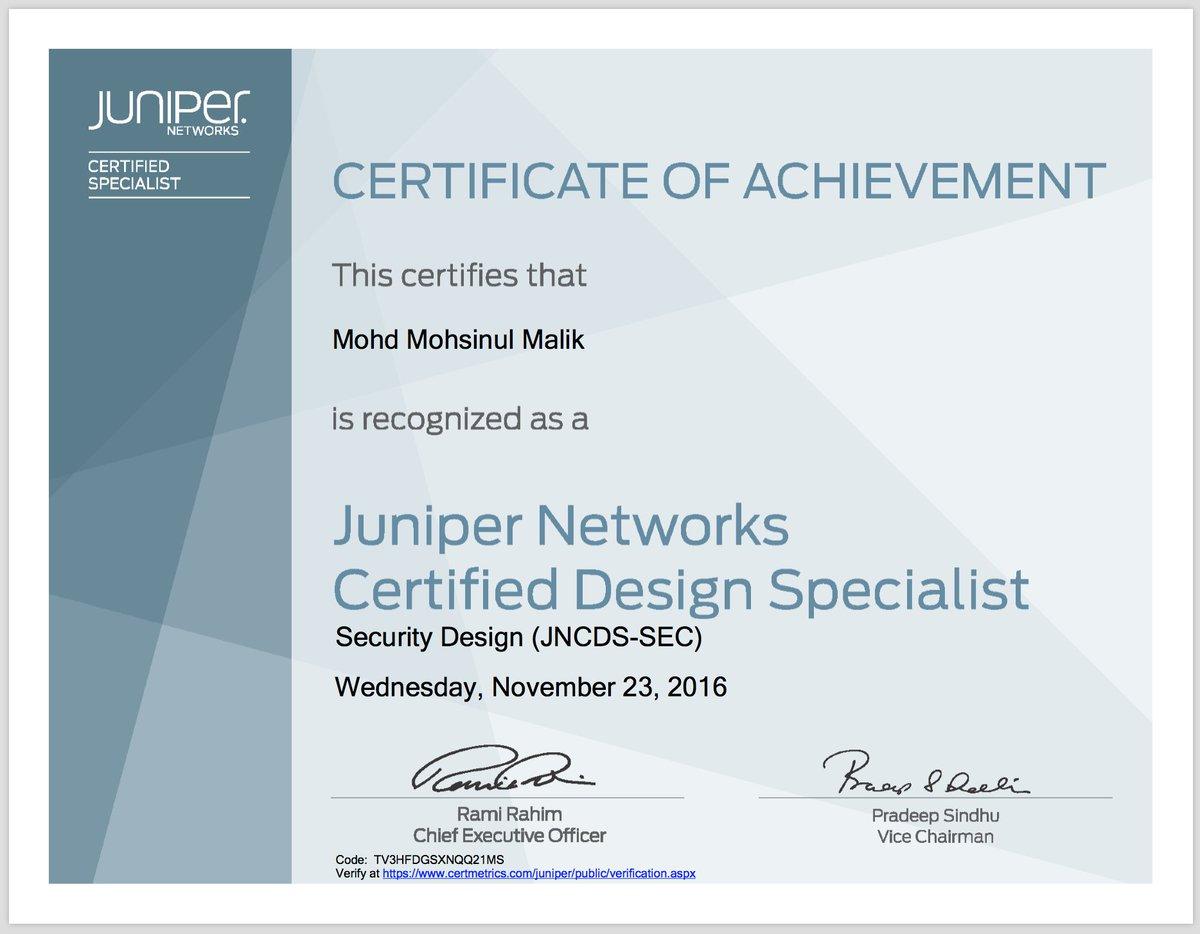 Juniper Certification On Twitter All Four Jncp Design Certs