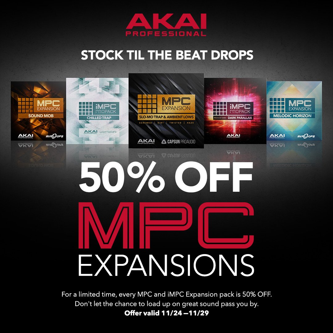 Akai Professional On Twitter Black Friday Special All Mpc And