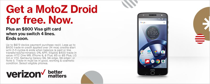 Verizon News On Twitter Get Our Best Blackfriday Deal Ever Right Now Free Motoz Droid Plus An 800 Gift Card Https T Co Qxfn0lapqp