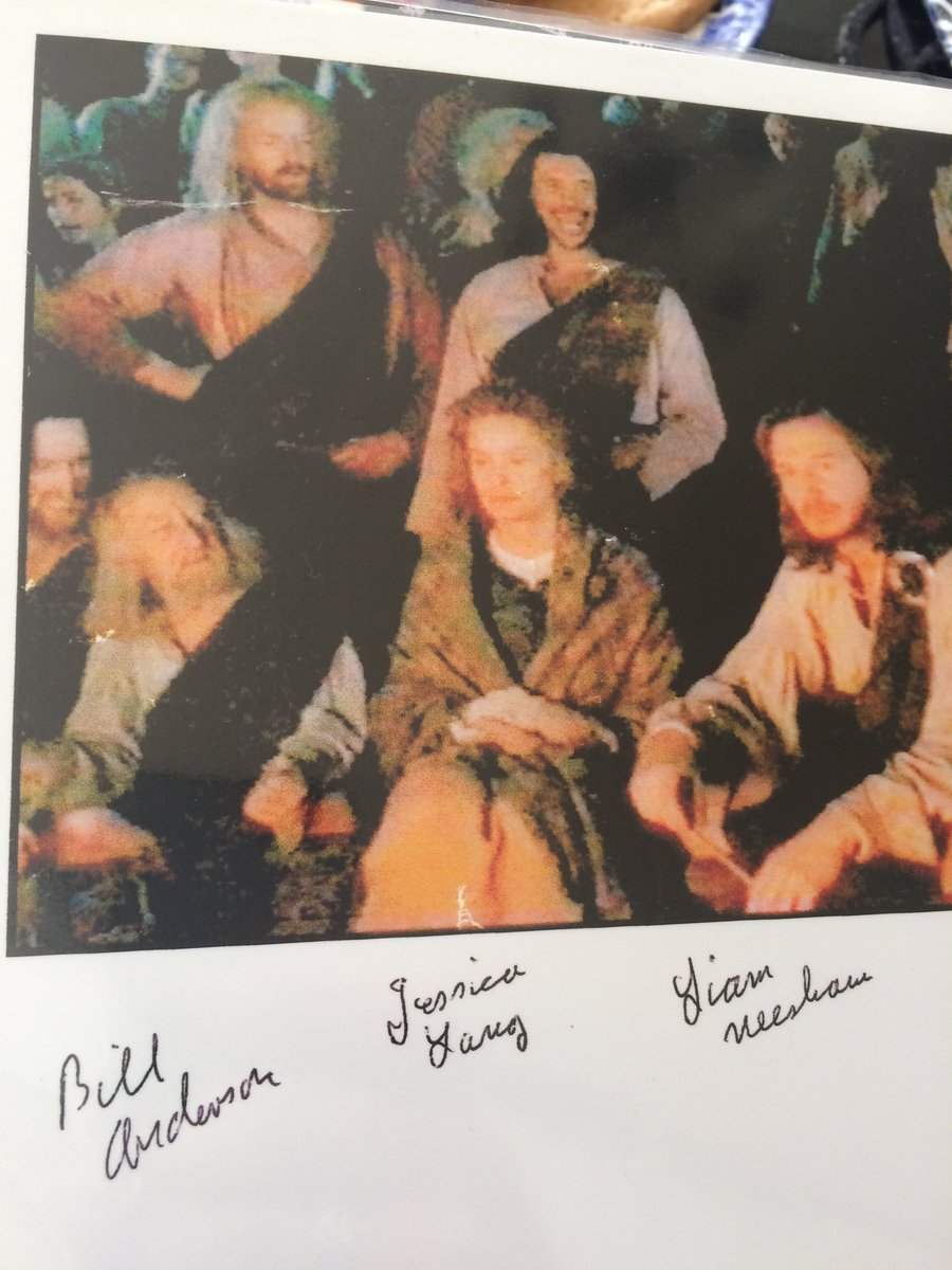 Aww found this old pic of my grandad in the film Rob Roy, sitting next to Jessica Lange and Liam Neeson ❤️ https://t.co/xs63iJ74Pb
