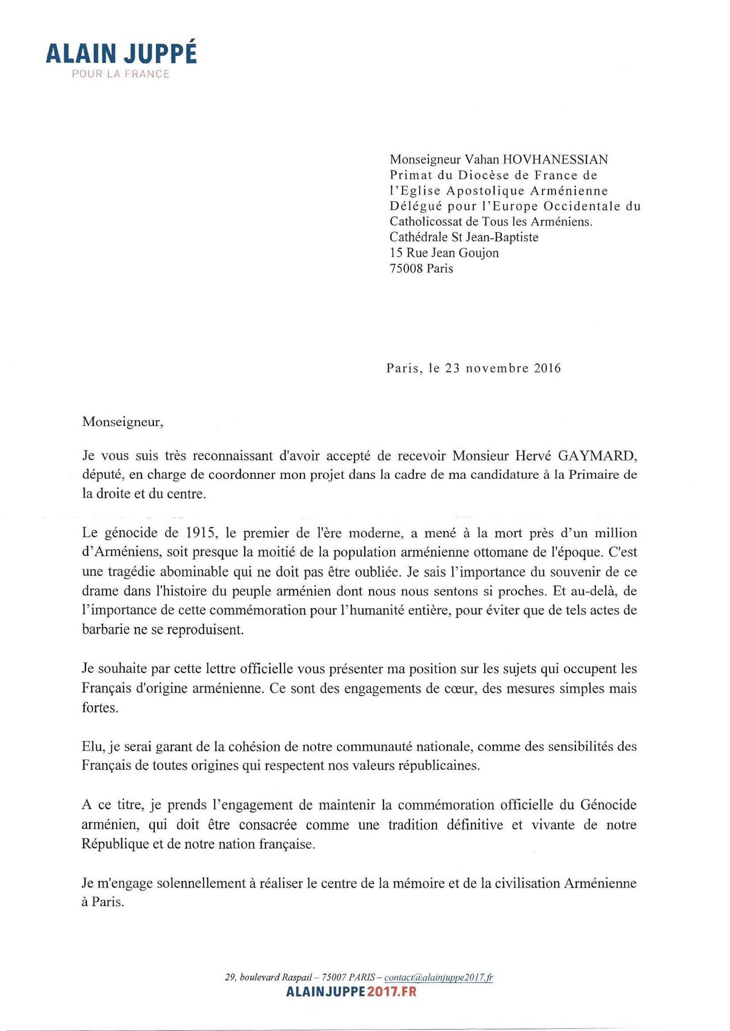 """Juppé 2017 Lyon 3° on Twitter: """"La lettre de @alainjuppe à ..."""