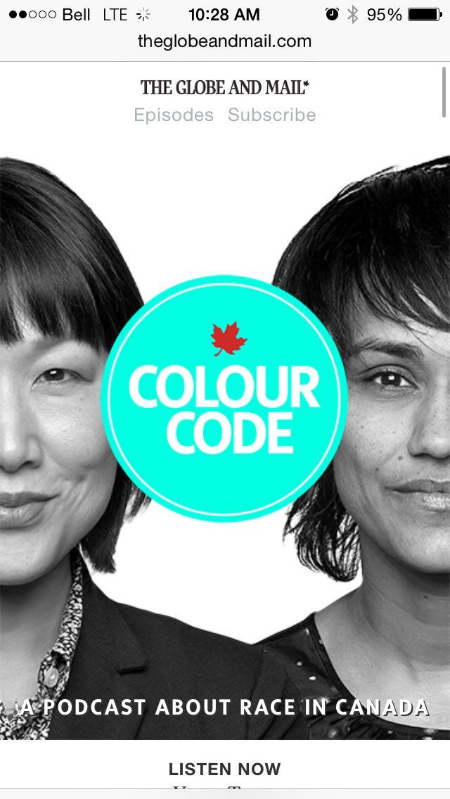 Canada! RT if you think yes, we do need to talk about race https://t.co/TXbatZLT7J #ColourCode https://t.co/K4ZwTaUWJM