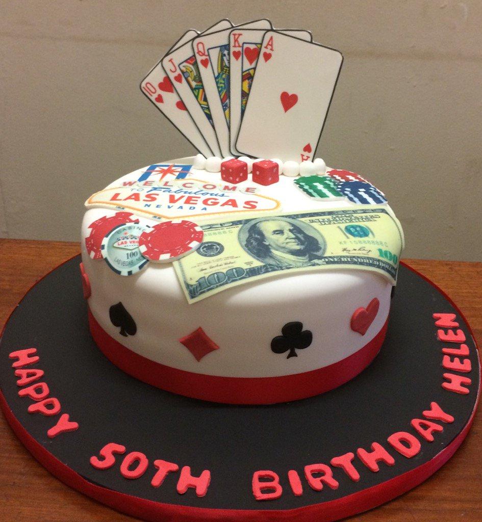 Remarkable The Danes Bakery On Twitter Las Vegas Themed Birthday Cake Personalised Birthday Cards Xaembasilily Jamesorg