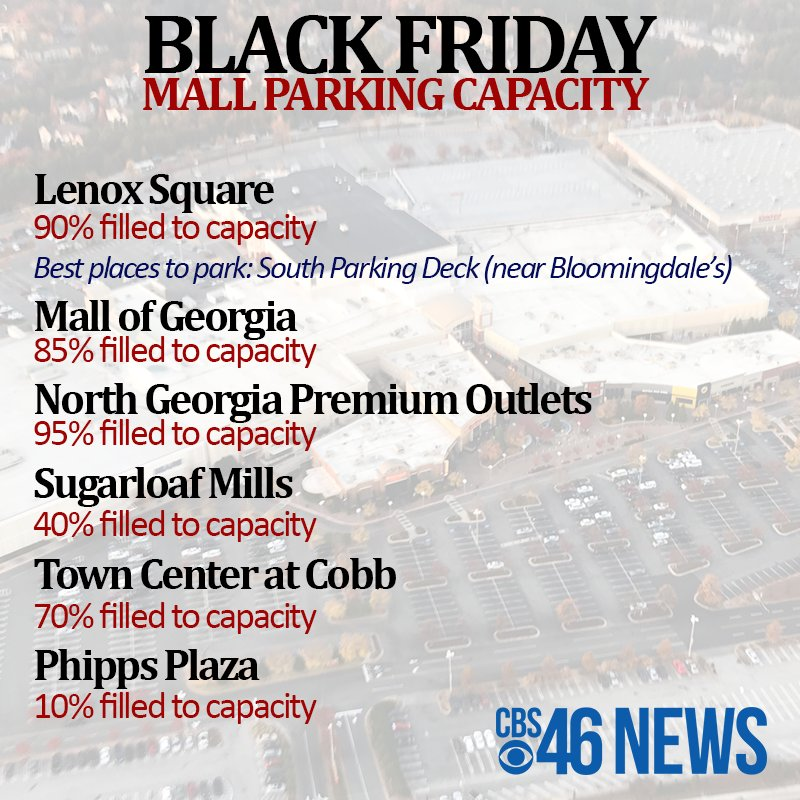 Latest On Mall Parking Lenox Square North Ga Outlets Mall Of Ga