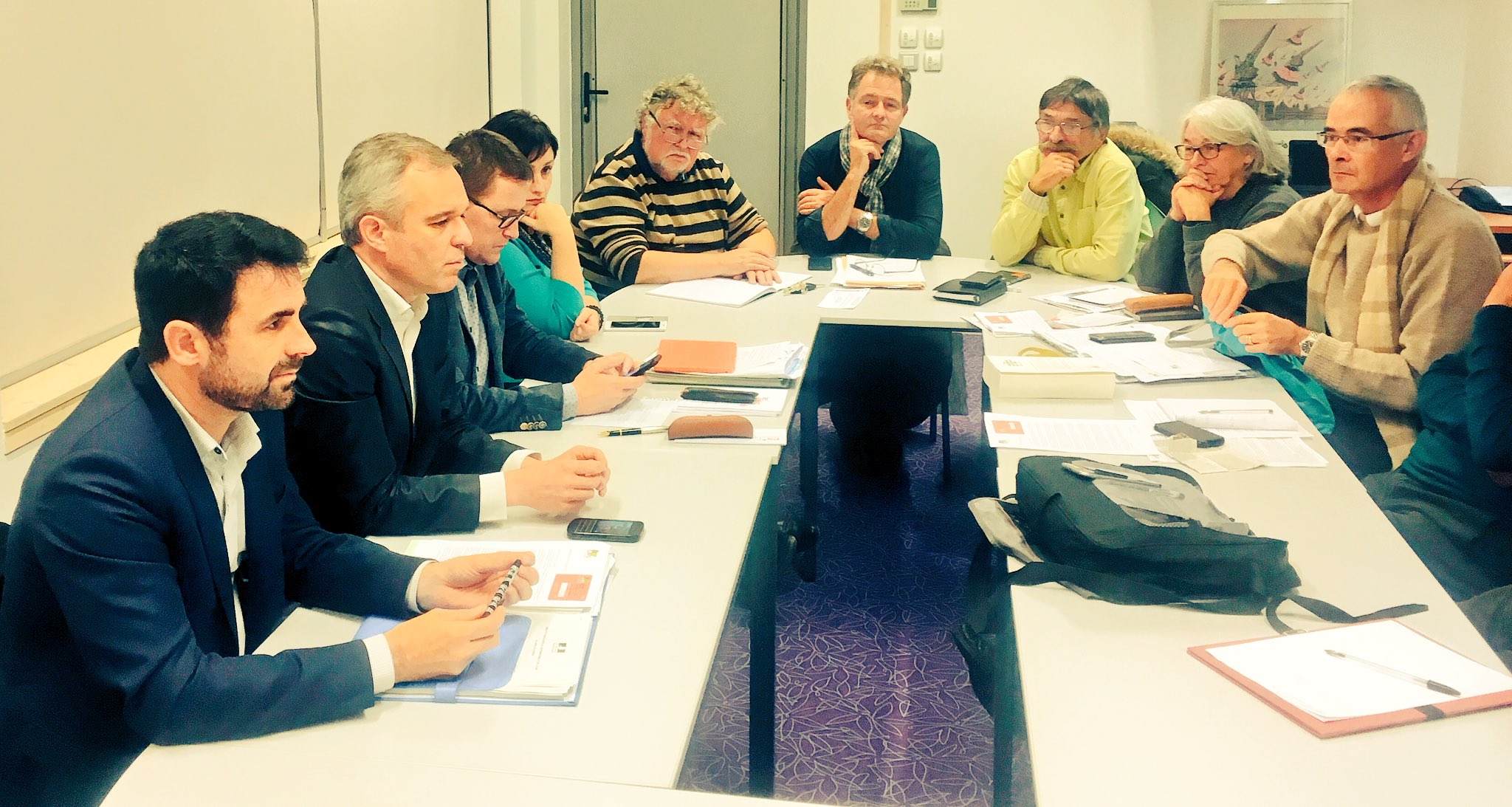 Réunion de travail des élus .@OrvaultPS et @ecologistes_fr avec .@FdeRugy #orvault #PS #PrimaireGauche @C_Angomard https://t.co/2abdqvv8WS