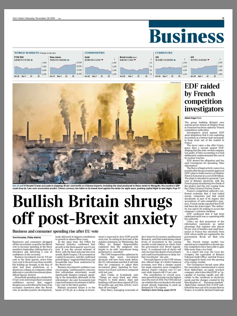 Tomorrow's @TimesBusiness front page: Bullish Britain shrugs off post-Brexit anxiety #tomorrowspaperstoday https://t.co/e6igmFCagM
