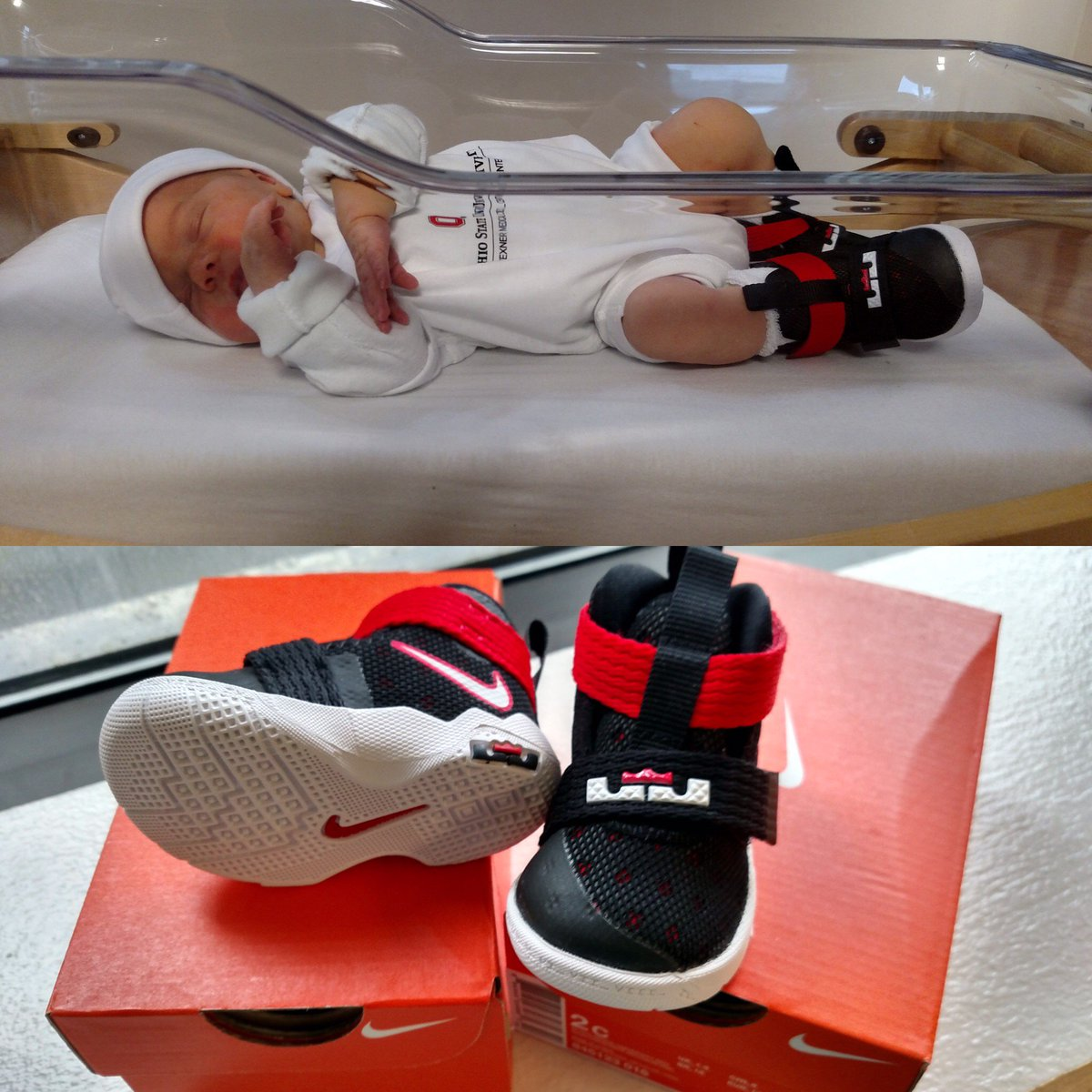 Every Baby Born In Columbus This Weekend Is Getting A Pair Of LeBron James Shoes