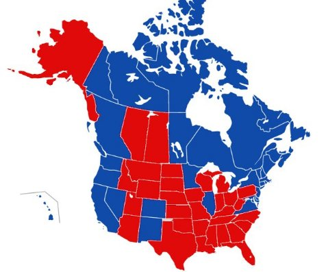 Michael JD Warner On Twitter Kenradio Brilliant And Heres - Us political map 2016
