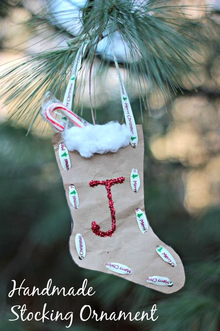 Christmas Stocking Ornament Craft for Kids
