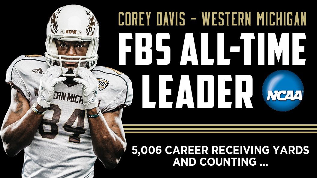 Corey Davis is now the ALL-TIME LEADING RECEIVER IN THE HISTORY OF FBS FOOTBALL!! https://t.co/Ma2TMbV1AY