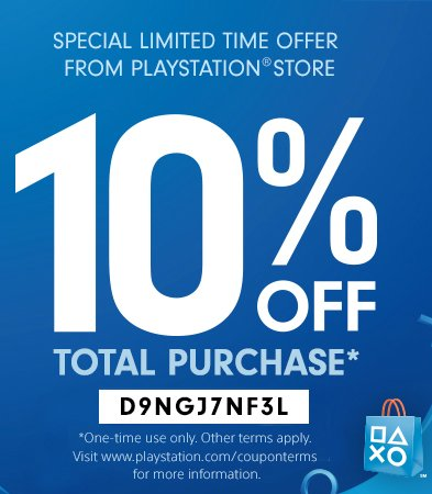 Enjoy 10% Off Playstation Store Games