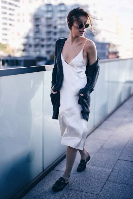 HOW TO WEAR A SILK SLIP DRESS