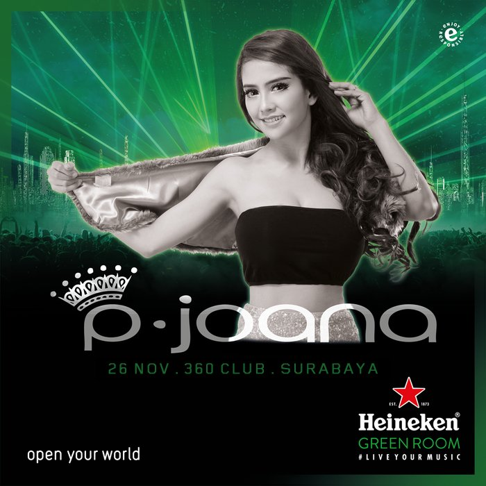 She's the beauty and the beats. Watch @pjoana performance and experience #TouchTheMusic together! See you tonight at #HeinekenGreenRoom! https://t.co/7UMxxPf2tu