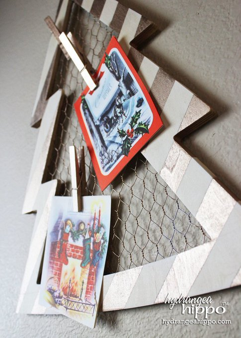 Hang Your Christmas Cards in Style! DIY Holiday Card Display