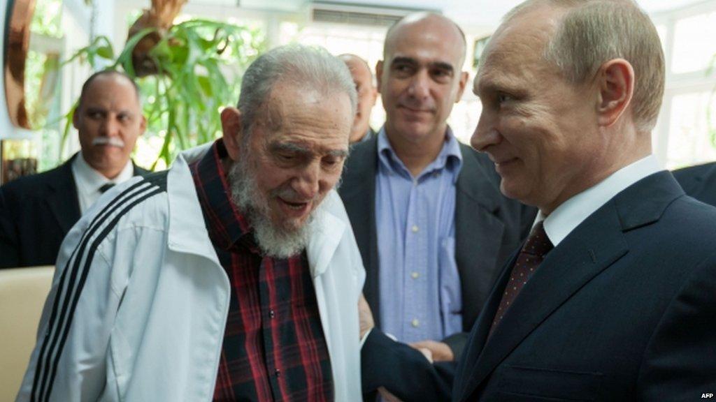 "Vladimir Putin describes Fidel Castro as ""symbol of an era in modern world history"" & ""reliable friend"" of Russia  https://t.co/eTy31Fu57C https://t.co/cDoGzcEkjv"