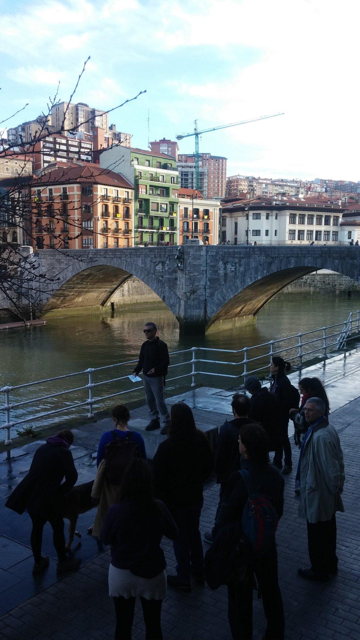 Primer hito del paseo periurbano del #urbanbat16 por Bilbao: Muelle Marzana https://t.co/oMhhtSDIzt
