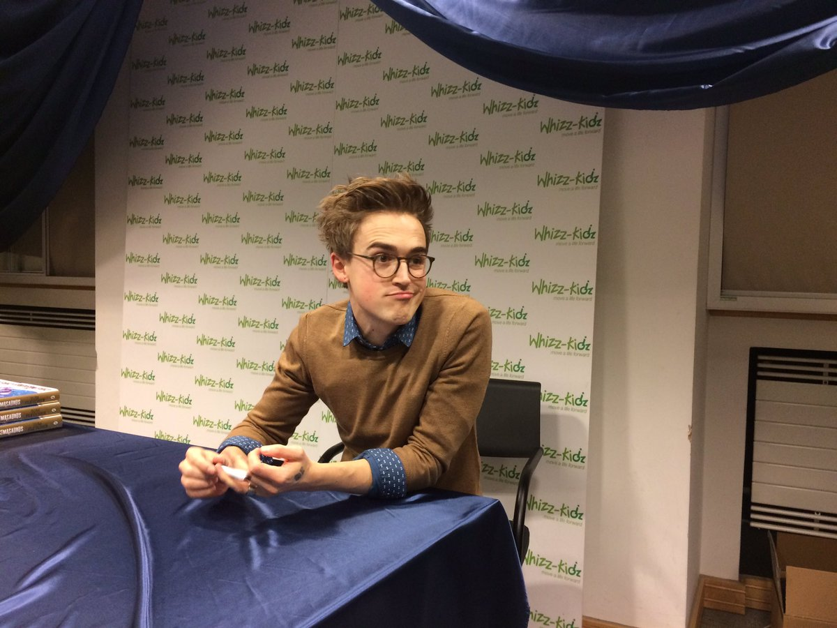 We're very happy to have @TomFletcher here at Whizz-Kidz for a special Christmasaurus book signing! https://t.co/m8psv1uj5Q