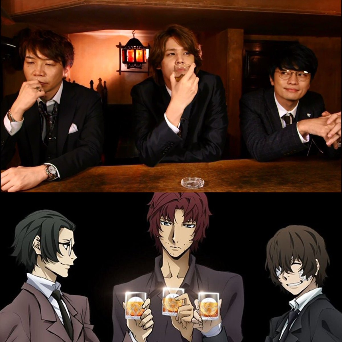 Seiyuus As Anime On Twitter Suwabe Junichi Miyano Mamoru Fukuyama Jun Oda Dazai Ango Bungou Stray Dogs