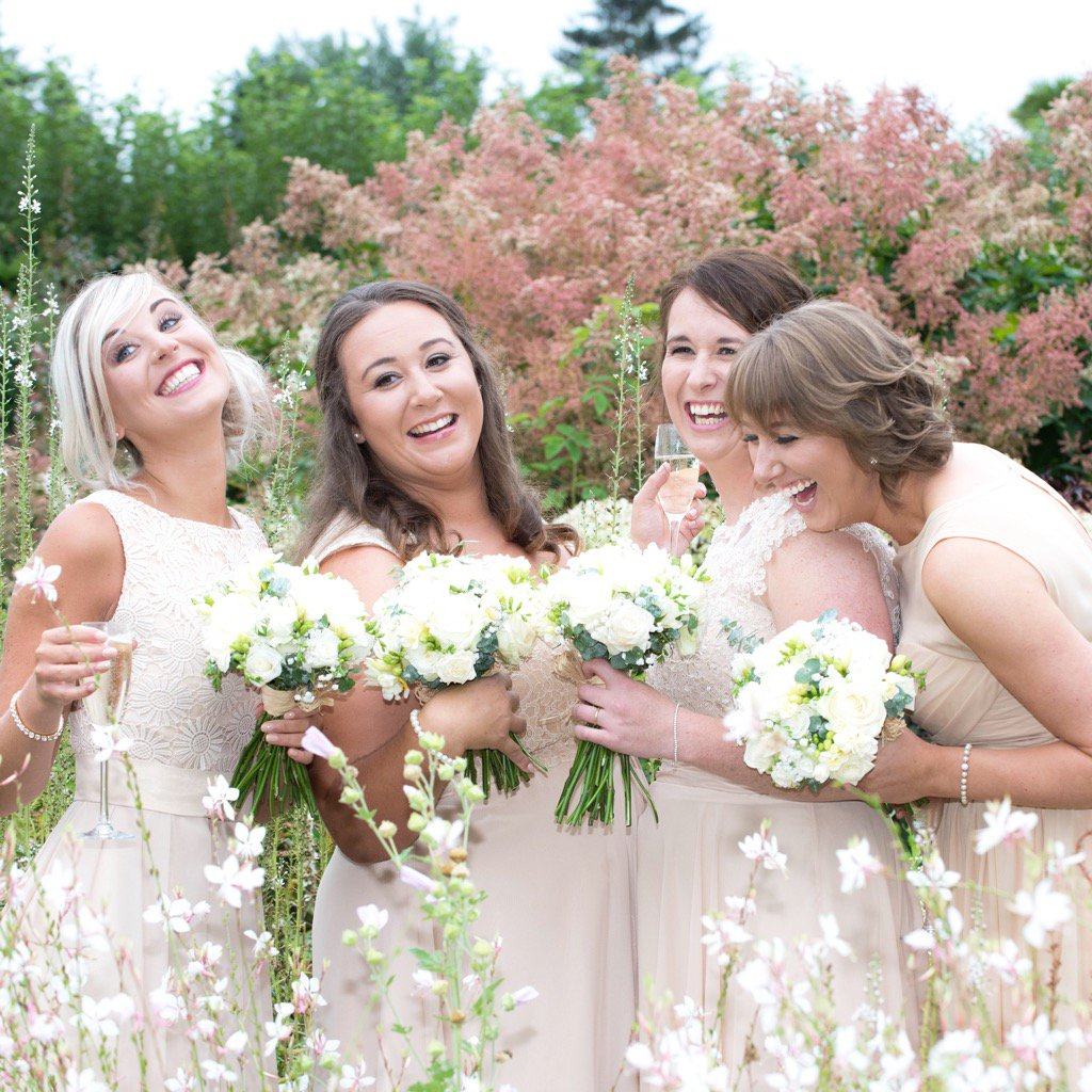 Choose your #Bridesmaids wisely. These gorgeous girls, ready to party @LoseleyPark @Loseleyevents @laurenceandella