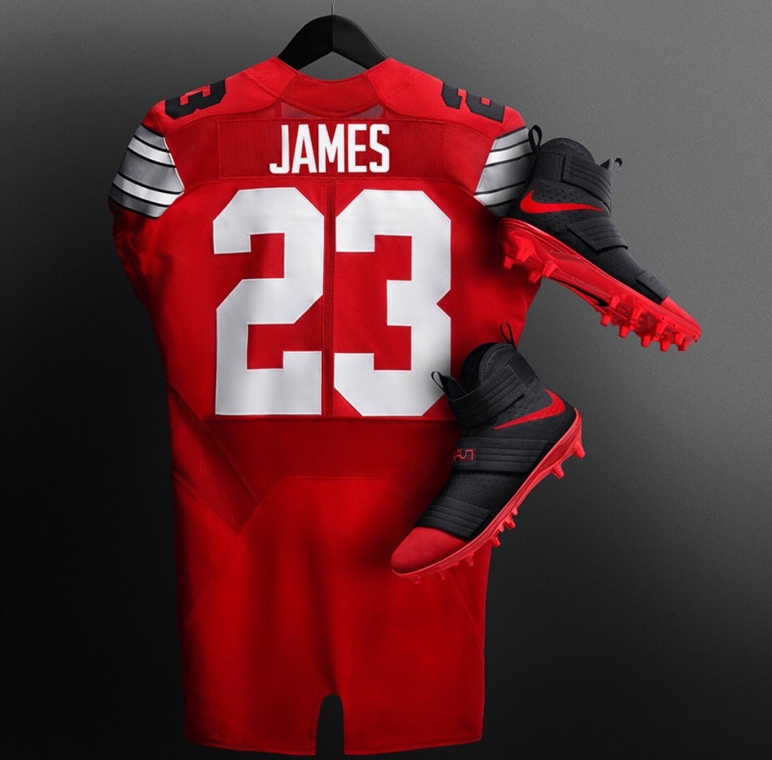 ed7b3893b67b With LeBron in attendance, Ohio State players will wear his Soldier 10  cleats vs Michigan todaypic.twitter.com/xhpc1c6E8Y