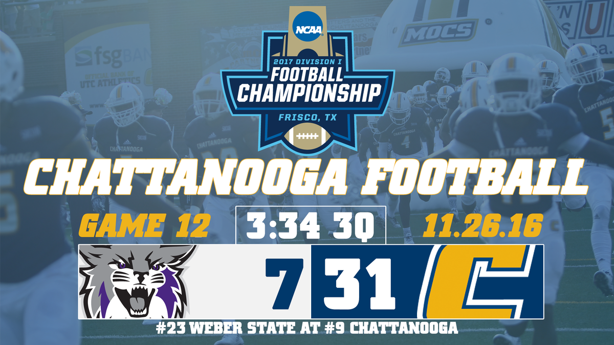 Chattanooga Football On Twitter Weber State Scores On A Fake Fg