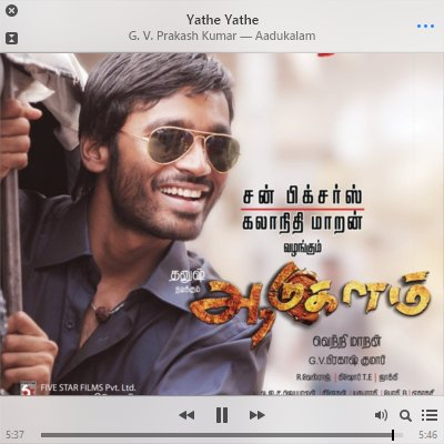 Man, what a lovely album is this 'Aadukalam'. A decade later, I still listen to this so often. https://t.co/gj8HXQNUjs