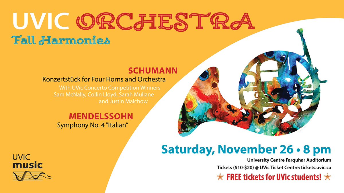 #UVic #Orchestra performs 2nite @ 8pm @UVicFarquhar featuring #concerto competition winners! Get tix:  http:// ow.ly/AbPf306okvm  &nbsp;   #yyjarts<br>http://pic.twitter.com/s2ddWxqsME