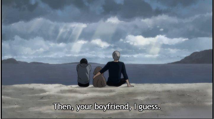 Victor telling Yuri he'll be his boyfriend.