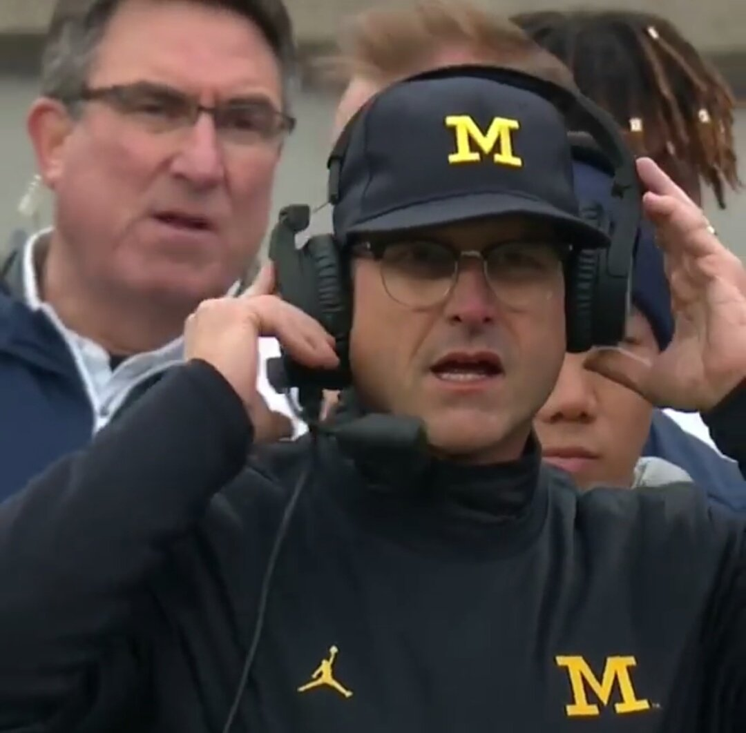 I want a relationship as strong as the one wire that\'s keeping Jim Harbaugh\'s headset together #MICHvsOSU