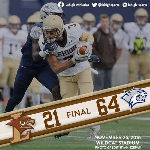 QUICK RECAP: Lehigh's Season Comes To Close After Dominating 64-21 Defeat To UNH