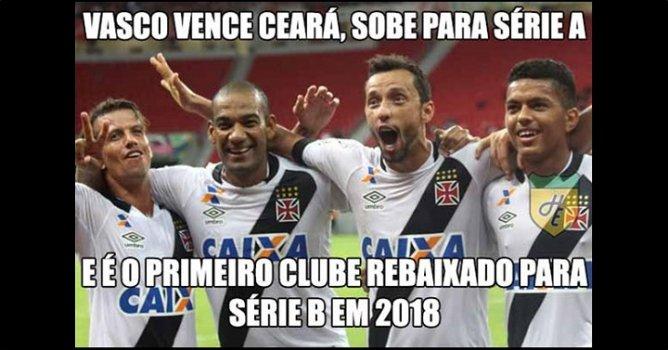 Humor Esportivo Os Melhores Memes Retorno Vasco à Série
