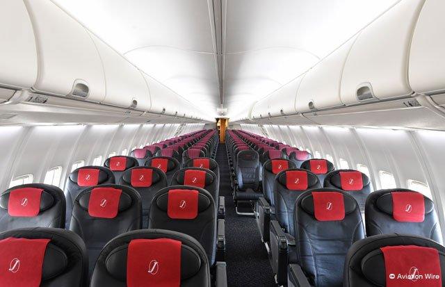 黒と赤でまとめた国内線新仕様機 写真特集・JALスカイネクスト最終改修機JA345J(前編) http://www.aviationwire.jp/archives/105628 #JAL #スカイネクスト #JA345J