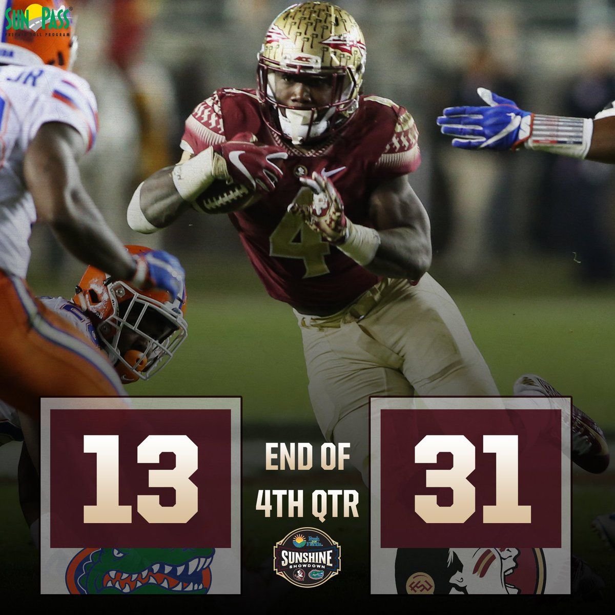 We just beat the damn Gators. https://t.co/iH8fpWFw3N