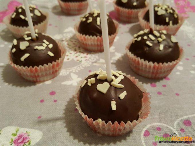 Cake pop caffè e cioccolato