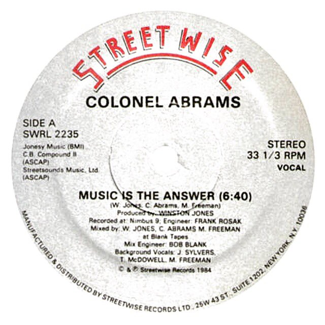 Music Is The Answer. Truth be told. RIP Colonel Abrams. https://t.co/cyaLiCDzYB