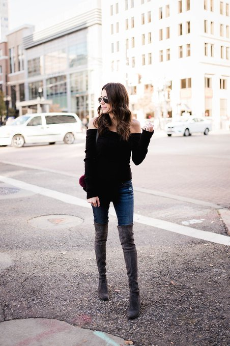 3 Ways to Style Your Off-the-Shoulder Sweater