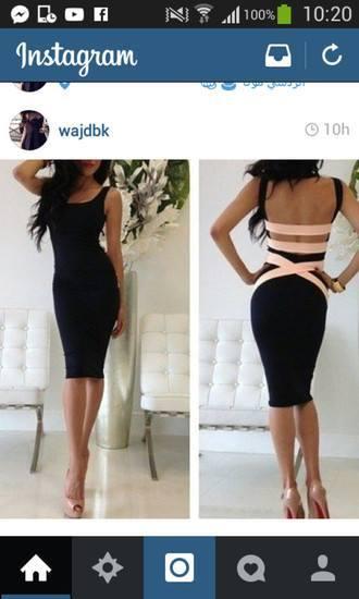 Dress: black pink