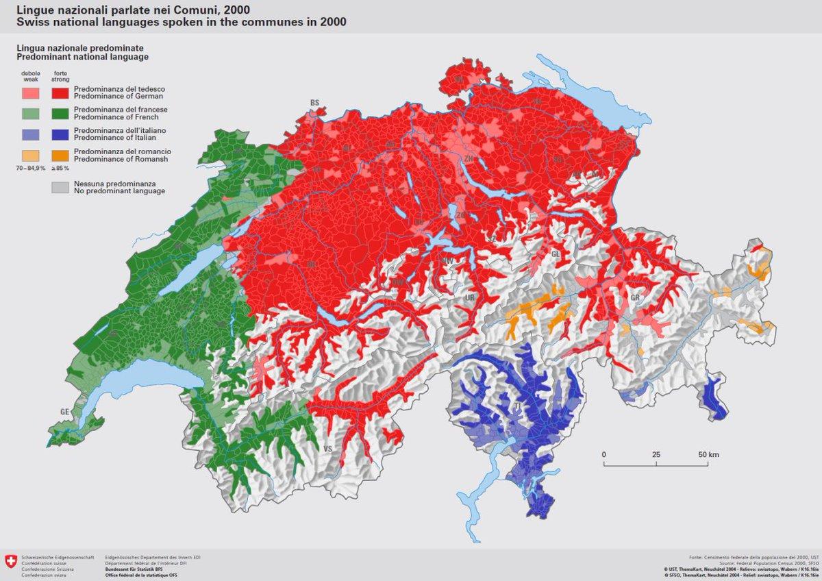 British Irish Language Maps On Twitter Linguistic Sectarian - Switzerland language map