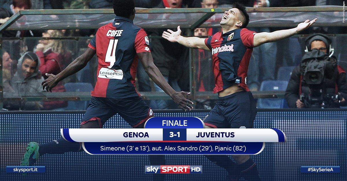 "GENOA-JUVENTUS 3-1, questa volta si ""scansano"" i Bianconeri"