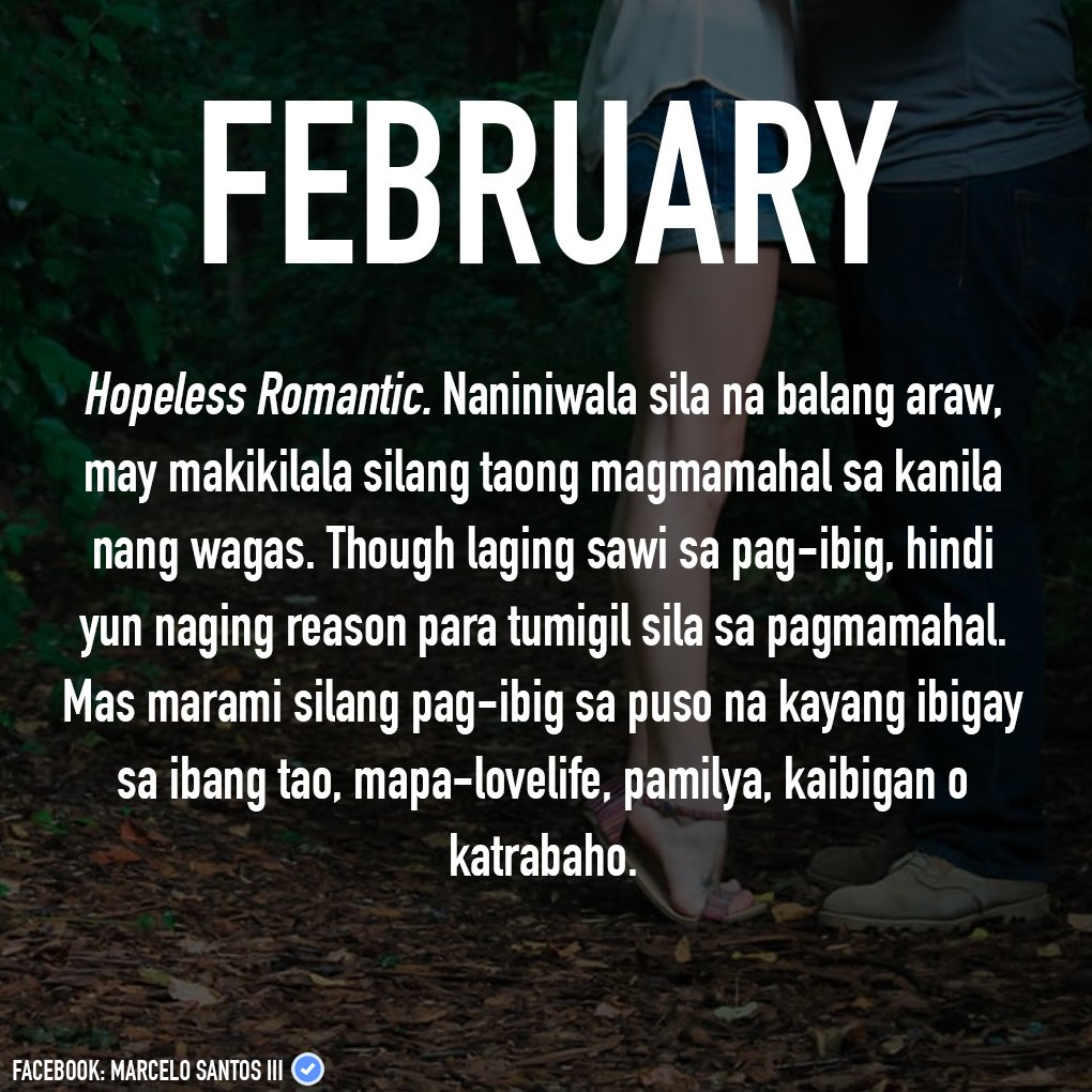 "Happy Quotes Tagalog Twitter: Marcelo Santos III On Twitter: ""February Babies! :) (Watch"