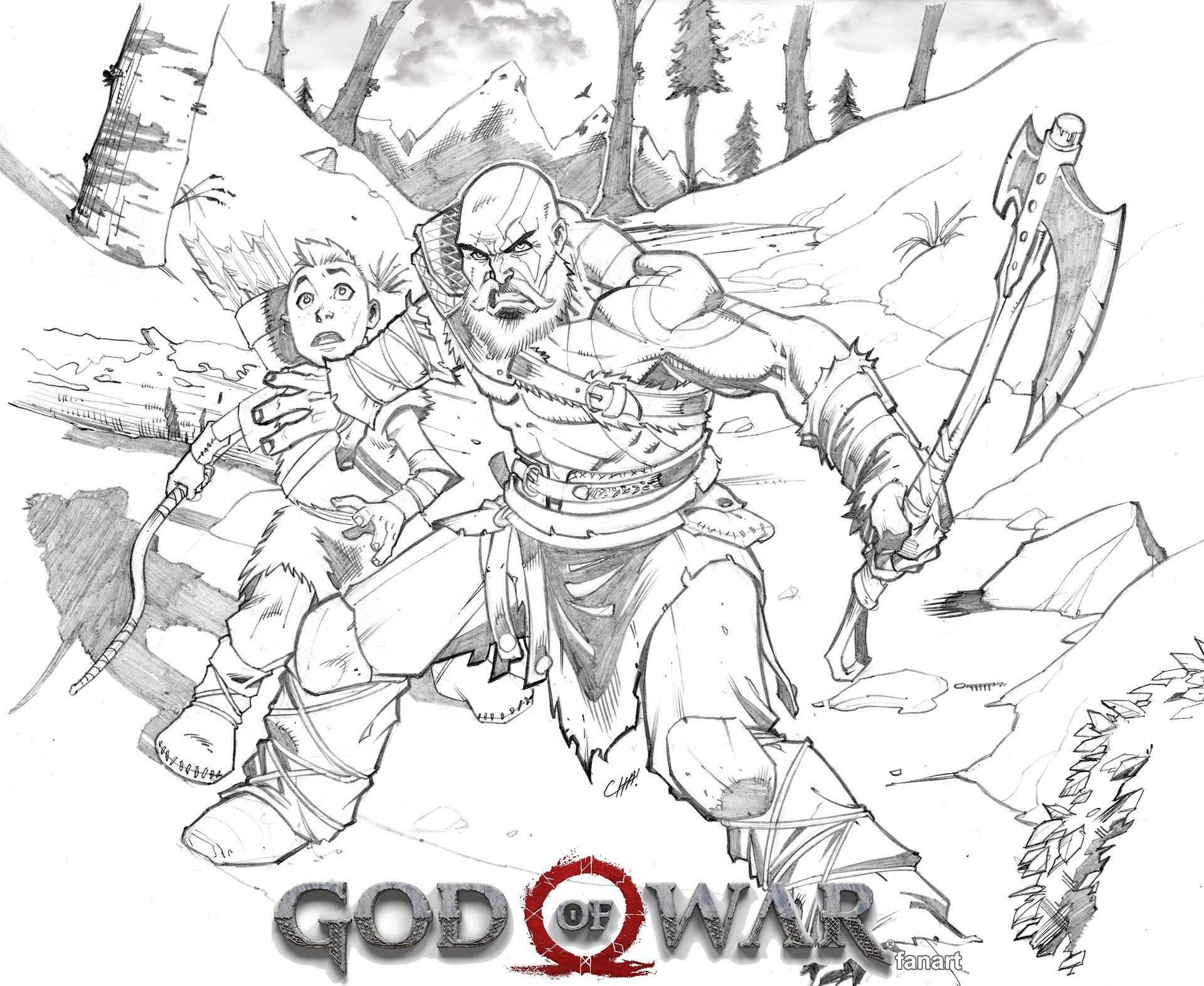 Excellent God Of War Fanart By Chahine Ladjouze 2016