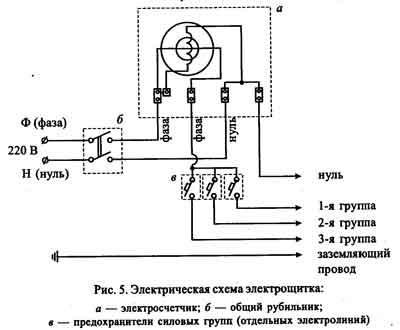 Схема электрическая фонарика