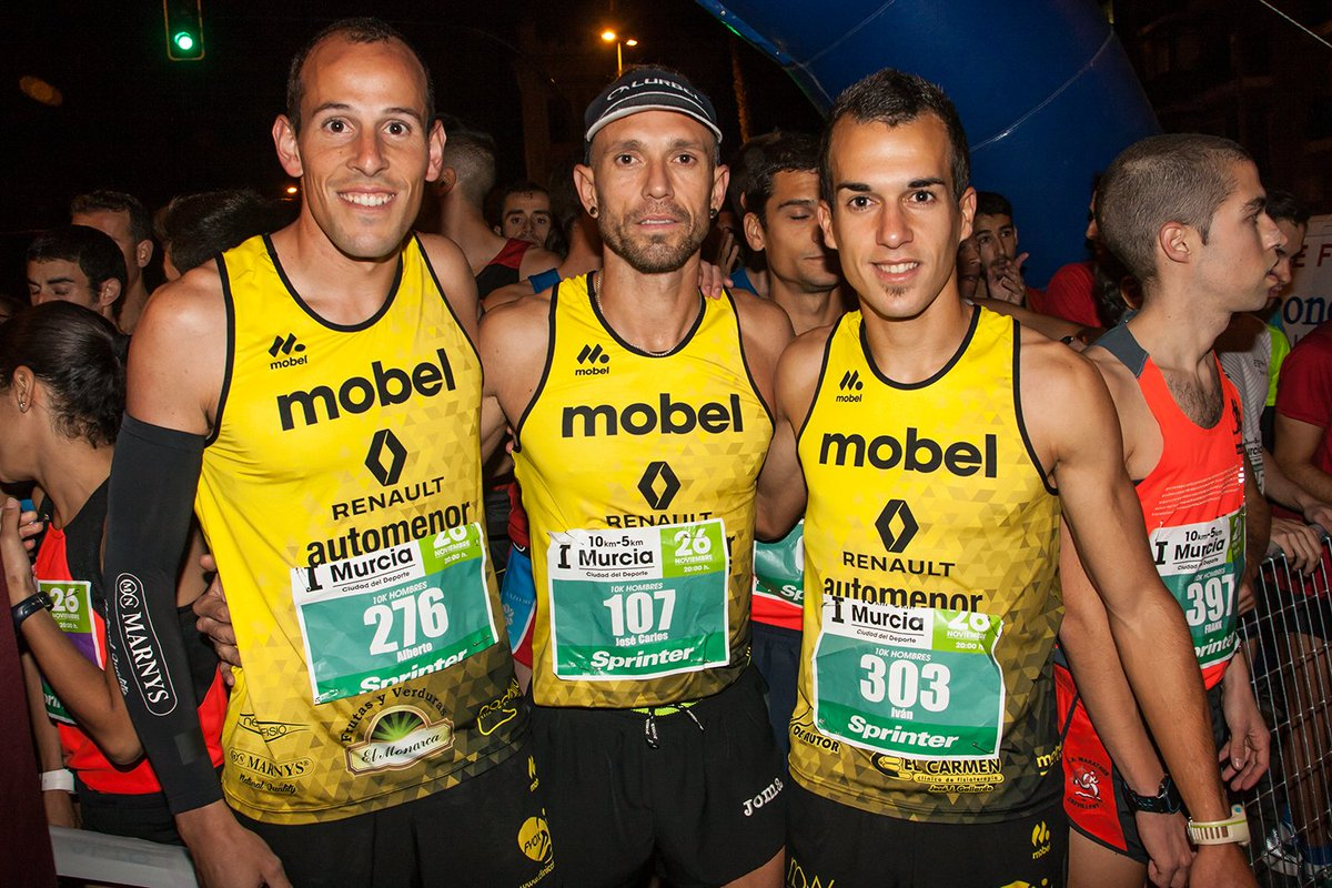 mobel sport on twitter impresionantes nuestros chicos del mobelsport automenor running team ayer en los 10k murcia la famu ivan hdez illan campeon