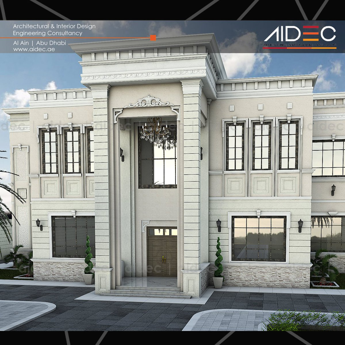 Aidec on twitter proposed private residential villa for Classic building design